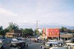 タンザニア・モシ・バスターミナルから見たキリマンジャロ